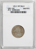 Early Dimes: , 1803 10C --Damaged--ANACS. VG 8 Details. JR-3. NGC Census: (1/39).PCGS Population (0/25). Mintage: 33,040. Numismedia Wsl. ...