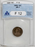 Bust Dimes: , 1809 10C F12 ANACS. JR-1. NGC Census: (3/33). PCGS Population(4/34). Mintage: 51,065. Numismedia Wsl. Price: $365. (#4486)...