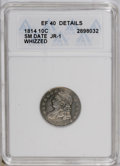 Bust Dimes: , 1814 10C Small Date--Whizzed--ANACS. XF40 Details. JR-1. NGCCensus: (1/33). PCGS Population (0/15). Numismedia Wsl. Price...