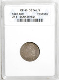 Bust Dimes: , 1820 10C Large 0--Scratched--ANACS. XF 40 Details. JR-8. NGCCensus: (3/183). PCGS Population (6/118). Mintage: 942,587. Nu...