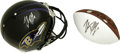 Football Collectibles:Others, Trent Dilfer Signed Helmet and Football. NFL quarterback Trent Dilfer provides us with a pair of signatures, one each on a ...