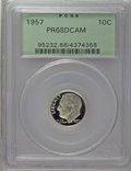 Proof Roosevelt Dimes: , 1957 10C PR68 Deep Cameo PCGS. PCGS Population (42/3). NGC Census:(25/11). Numismedia Wsl. Price: $200. (#95232)...