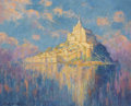 Fine Art - Painting, American:Modern  (1900 1949)  , MARY (LOUISE FAIRCHILD) MACMONNIES LOW (American 1866-1946).Mont Saint Michel, 1909 - 1932. Oil on canvas. 24 x 30inch...
