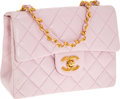 Luxury Accessories:Bags, Chanel Light Pink Lambskin Leather Quilted Mini Classic Flap Bagwith Gold Hardware. ...