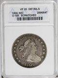 Early Half Dollars: , 1806 50C Pointed 6, Stem--Scratched--ANACS. VF20 Details. O-105.NGC Census: (210/943). PCGS Population (54/535). Mintage: ...