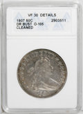 Early Half Dollars: , 1807 50C Draped Bust--Cleaned--ANACS. VF30 Details. O-105. NGCCensus: (150/555). PCGS Population (58/424). Mintage: 301,07...