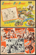 "Movie Posters:Animation, The Three Caballeros & Other Lot (RKO, R-1950s). Mexican LobbyCards (2) (12.5"" X 16.5""). Animation.. ... (Total: 2 Items)"