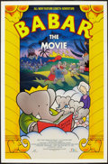 "Movie Posters:Animation, Babar: The Movie (F.H.E, 1989). Video One Sheet (27"" X 41"").Animation.. ..."