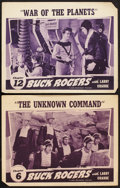 "Movie Posters:Serial, Buck Rogers (Universal, 1939). Lobby Cards (2) (11"" X 14""). Chapter 6 -- ""The Unknown Command,"" and Chapter 12 -- ""War of th... (Total: 2 Items)"