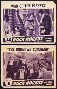"Buck Rogers (Universal, 1939). Lobby Cards (2) (11"" X 14""). Chapter 6 -- ""The Unknown Command,"" and..."