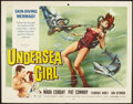 "Movie Posters:Crime, Undersea Girl (Allied Artists, 1957). Half Sheet (22"" X 28""). Crime.. ..."