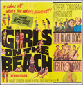 "Movie Posters:Rock and Roll, The Girls on the Beach (Paramount, 1965). Six Sheet (81"" X 81"").Rock and Roll.. ..."