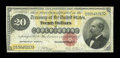 Large Size:Gold Certificates, Fr. 1178 $20 1882 Gold Certificate Fine-Very Fine....