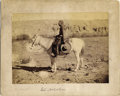 Photography:Cabinet Photos, FINE PORTRAIT OF A SOUTHWESTERN COWBOY - IMPERIAL CARD - circa1885. A classic identified portrait of a cowboy wearing buffa...(Total: 1 Item)