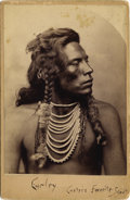 Photography:Cabinet Photos, CUSTER'S CROW INDIAN SCOUT CURLEY CABINET CARD ca 1880s Curley was born approximately 1856 in Montana Territory. He resided ... (Total: 1 Item)