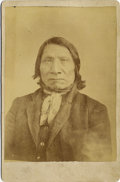 "Photography:Cabinet Photos, LAKOTA SIOUX CHIEF ""RED CLOUD"" CABINET CARD ca 1880's Red Cloud(Lakota: Makhpiya Luta), was a war leader of the Oglala Lako...(Total: 1 Item)"
