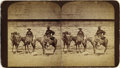 Photography:Stereo Cards, EARLY WYOMING FRONTIERSMEN WITH RIFLES AND PISTOLS - STEREOGRAPH - ca. 1880. This classic Western image features two early W... (Total: 1 Item)