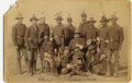 Photography:Cabinet Photos, 21st INFANTRY OFFICERS IN CAMPAIGN DRESS - FORT SIDNEY, NEBRASKA -ca.1885. The officers in this image have been identified ...(Total: 1 Item)