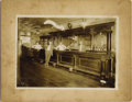 Photography:Cabinet Photos, SALOON INTERIOR - PIERRE, SOUTH DAKOTA - IMPERIAL CARD - circa1890. A great deal of advertising and decoration adorn the in...(Total: 1 Item)