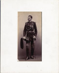 Photography:Cabinet Photos, LT. POWHATAN H. CLARKE - MEDAL OF HONOR WINNER - GERONIMO CAMPAIGN- 10TH U.S. CALVARY CO. K BUFFALO SOLDIERS. - ca. 1886-90...(Total: 1 Item)