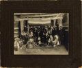 Photography:Cabinet Photos, INDIAN DANCE AND FEAST FOR FAREWELL MAJOR BELDEN 1911. Importantimage of Major Beldon and the high-ranking Indian Chiefs o...(Total: 1 Item)