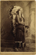 Photography:Studio Portraits, QUOHADAS COMMANCHE CHIEF WILD HORSE ca 1890 Albumen studio portrait, of this principle Comanche Chief. Famous Indian who orc... (Total: 1 Item)