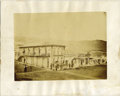 Photography:Official Photos, RARE SALT PRINT OF VIRGINIA CITY, MONTANA. The long and complicatedsalt print process was used by an unknown photographer t... (Total:1 Item)