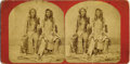 """Photography:Stereo Cards, BANNOCK INDIANS STEREOGRAPH BY C.R. SAVAGE 1860-1870. Printed on verso: """"Views of the Great West, from the Missouri River to... (Total: 1 Item)"""