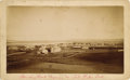 Photography:Cabinet Photos, STANDING ROCK INDIAN AGENCY AND FT. YATES, NORTH DAKOTA - BOUDOIR CARD - ca.1890. A bird's-eye-view of an early and importa... (Total: 1 Item)