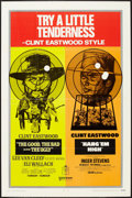"""Movie Posters:Western, The Good, the Bad and the Ugly/Hang 'Em High Combo (United Artists, R-1969). One Sheet (27"""" X 41""""). Western.. ..."""