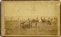 Photography:Cabinet Photos, HORACE P. JONES AT MOW-WAYS AND PARRA-O-COOM COMANCHE CAMP, 1873.Well-known scout and interpreter Horace Pope Jones is seen...(Total: 1 Item)