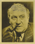 """Movie/TV Memorabilia:Autographs and Signed Items, Edgar Kennedy Signed Photo. A vintage b&w 8"""" x 10"""" photo of thecomedic actor, inscribed and signed by him in black ink. In ...(Total: 1 Item)"""