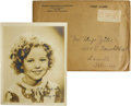 "Movie/TV Memorabilia:Autographs and Signed Items, Shirley Temple Autographed Photo. Signed by the child star in 1937, making her about nine years old, this b&w 8"" x 10"" reads... (Total: 1 Item)"