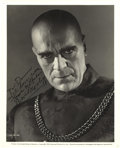 "Movie/TV Memorabilia:Autographs and Signed Items, Boris Karloff Signed Photo from ""Tower of London"". ""Karloff can'tbe taken seriously, else he would drive one insane from f...(Total: 1 Item)"