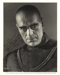 "Boris Karloff Signed Photo from ""Tower of London"". ""Karloff can't be taken seriously, else he would drive..."