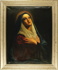 """Marian Marsh Madonna-Style Prop Painting from """"Svengali."""" """"Greatest Star of Today and Greatest Star of To..."""