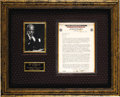 Music Memorabilia:Autographs and Signed Items, W. C. Handy Signed Letter. This single-page letter on businessletterhead is dated August 22, 1945 and signed by the Father ...(Total: 1 Item)