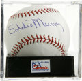 Autographs:Baseballs, Eddie Murray Single Signed Baseball, PSA Mint 9. 500 Home Run Clubmember Eddie Murray offer a high-quality sweet spot singl...