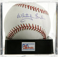 Autographs:Baseballs, Whitey Ford Single Signed Baseball, PSA Mint 9. Postseason clutchhurler Whitey Ford makes the OML orb we home to his top-no...
