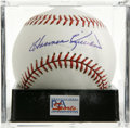 Autographs:Baseballs, Harmon Killebrew Single Signed Baseball, PSA Mint+ 9.5. A betterexample of a single from Mr. Cub himself Ernie Banks can sc...