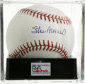 Autographs:Baseballs, Stan Musial Single Signed Baseball, PSA Gem Mint 10. An unflawedMusial single is up for grabs here. Ball has been encapsula...