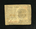 Colonial Notes:Continental Congress Issues, Continental Currency September 26, 1778 $20 Fine-Very Fine....