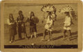 Photography:Cabinet Photos, NEW MEXICO INDIAN DANCERS OF SAN ILDEFONSO - D.B. CHASE - SANTA FE,N.M. - BOUDOIR CARD ca. 1885.. This is an early New Mexi... (Total:1 Item)
