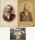 "Photography:Cabinet Photos, DALLAS MAN WITH BADGE - SET OF TWO CABINET CARDS - ca. 1890.. Thisgreat set of two cabinet cards shows ""H. B. Jones"" we...(Total: 1 Item)"