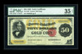 Large Size:Gold Certificates, Fr. 1196 $50 1882 Gold Certificate PMG Choice Very Fine 35 EPQ....