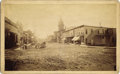 Photography:Cabinet Photos, LEADVILLE, COLORADO STREET SCENE - HARRISON AVE. - BOUDOIR CARD -ca.1880. An exceptional image of the early mining town kno...(Total: 1 Item)