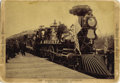 "Photography:Cabinet Photos, N.P.R.R. ""GOLD SPIKE"" EXCURSION - OPENING OF THE NORTHERN PACIFICRAILROAD - IMPERIAL CARD - ca.1883. A stunning railroad vi...(Total: 1 Item)"