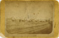 Photography:Cabinet Photos, DODGE CITY, KANSAS - EARLY VIEW OF MAIN STREET - CABINET CARD -ca.1873-5. A very historic, early view of Dodge City, Kansas...(Total: 1 Item)