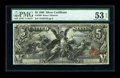Large Size:Silver Certificates, Fr. 269 $5 1896 Silver Certificate PMG About Uncirculated 53EPQ....