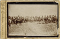 """Photography:Cabinet Photos, NEBRASKA COWGIRL ROPING SCENE - CABINET CARD - ca.1894. This is arare image of three Nebraska cowgirls roping a steer and """"...(Total: 1 Item)"""